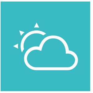 Icone météo sur fond bleu