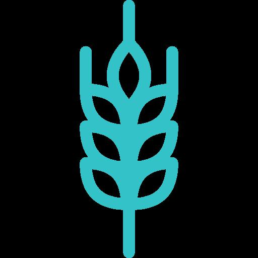 Icone feuille sur fond bleu